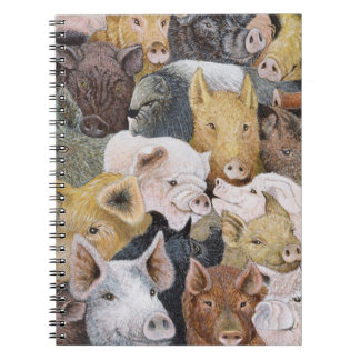Pigs Galore Spiral Notebook