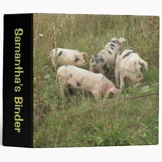 Pigs in a Field Custom Binder