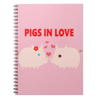 pigs in love spiral notebook