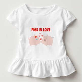 pigs in love toddler t-shirt