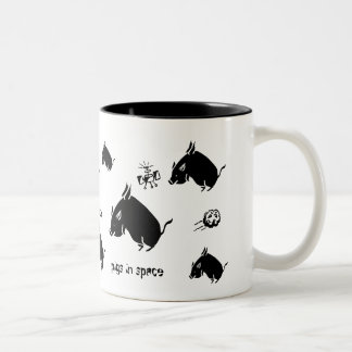 Pigs in Space II Two-Tone Coffee Mug