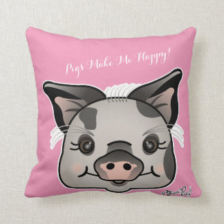 Pigs Make Me Happy! Throw Pillow