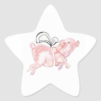 Pigs May Fly Star Sticker