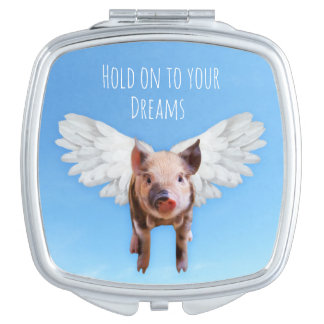 Pigs Might Fly Compact Mirror