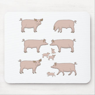 pigs mouse pad