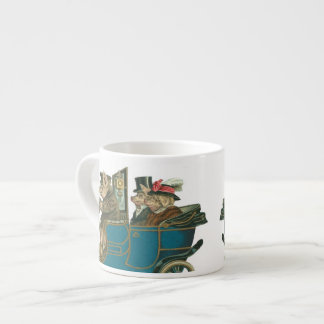 Pigs Night Out - Funny Vintage Expresso Mug