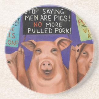 Pigs On Strike Coaster