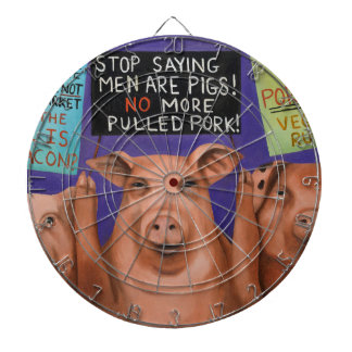 Pigs On Strike Dartboard
