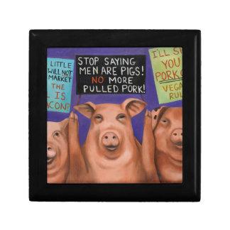 Pigs On Strike Gift Box