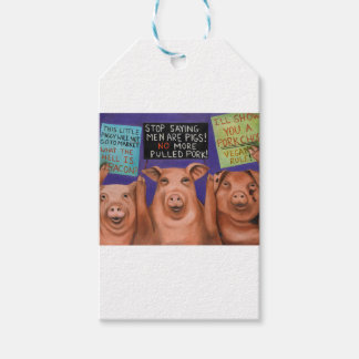 Pigs On Strike Gift Tags