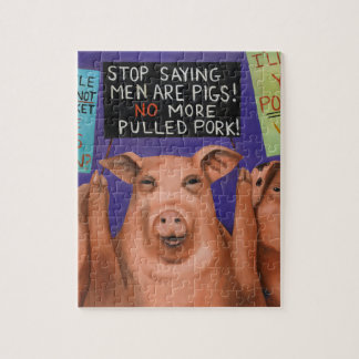 Pigs On Strike Jigsaw Puzzle