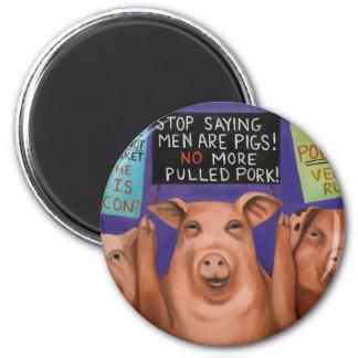 Pigs On Strike Magnet