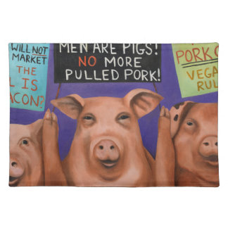 Pigs On Strike Placemat