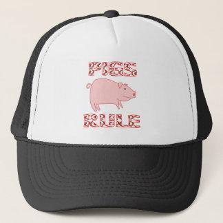 PIGS RULE TRUCKER HAT