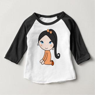 Pigtail hair girl cartoon baby T-Shirt