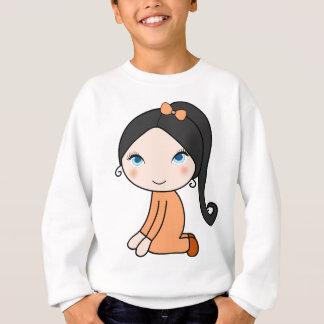 Pigtail hair girl cartoon sweatshirt