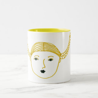 Pigtails Two-Tone Coffee Mug