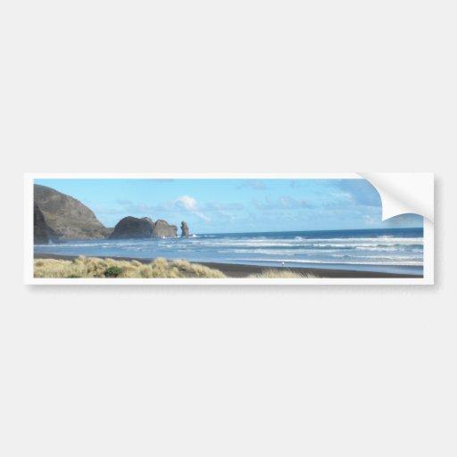Piha Beach Bumper Stickers