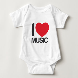 Pijama I love Music Bebe Tee Shirt