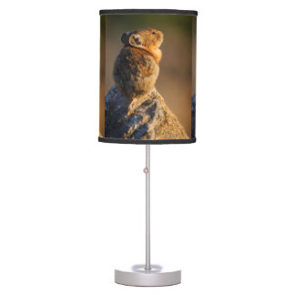 Pika in sunset light table lamp