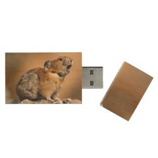 Pika Wood USB 2.0 Flash Drive