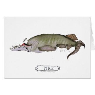 Pike fish, tony fernandes card