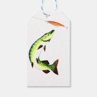 Pike fishing and fly fishing gift tags