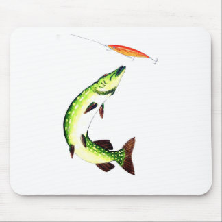 Pike fishing and fly fishing mouse pad
