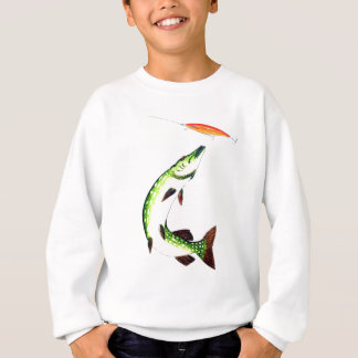 Pike fishing and fly fishing sweatshirt