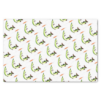 Pike fishing and fly fishing tissue paper