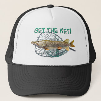 Pike Muski fishing Trucker Hat