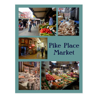 Pike Place Collage Postcard