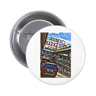 Pike Place Market Pinback Buttons