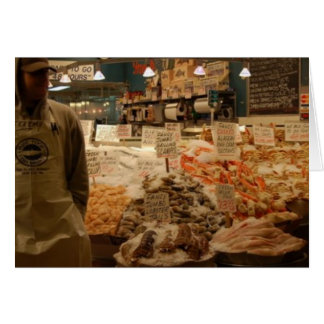Pike Place Market Fish Greeting Card