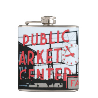 Pike Place Market Flask