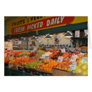 Pike Place Market Fruit Stand Greeting Card