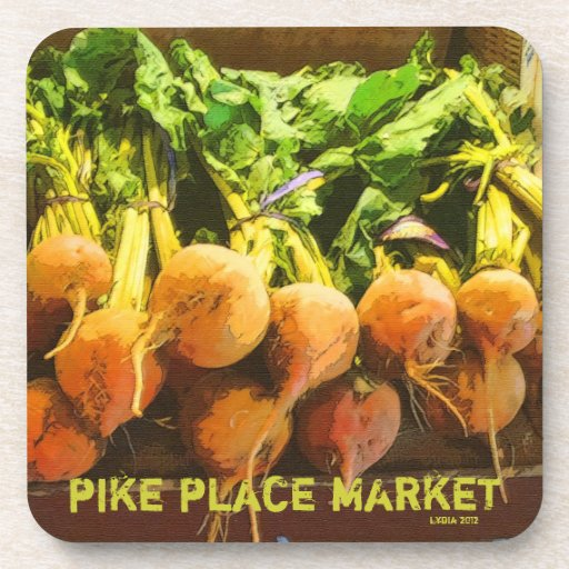 Pike Place Market  Golden Beets Coaster