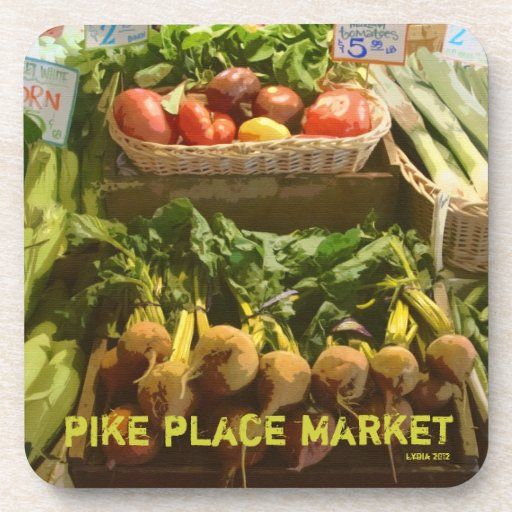 Pike Place Market Heirloom Tomatoes Drink Coaster