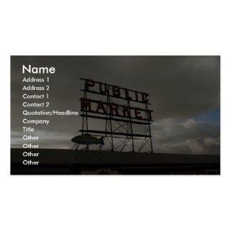Pike Place Market In Seattle Business Card Templates