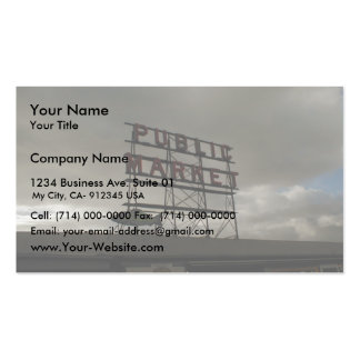 Pike Place Market In Seattle Business Card