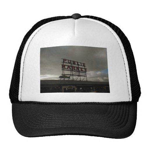 Pike Place Market In Seattle Mesh Hat