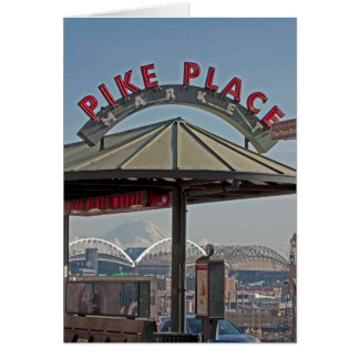 Pike Place Market in Seattle, WA Greeting Card