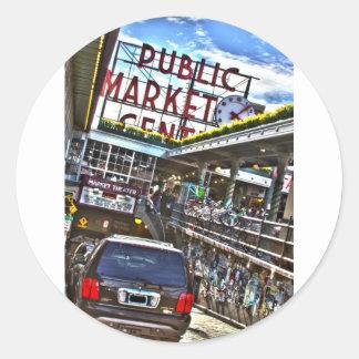 Pike Place Market Round Sticker