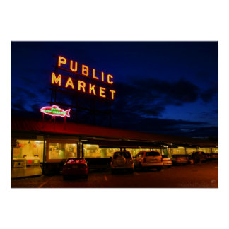 Pike Place Market, Seattle Poster