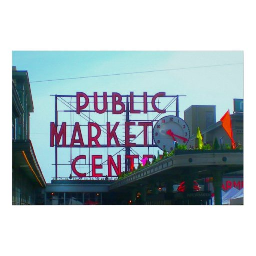 Pike Place Market Seattle Posters