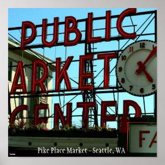 Pike Place Market - Seattle, WA Poster