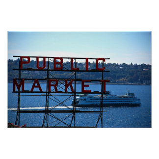 Pike Place Market & Seattle Waterfront Print
