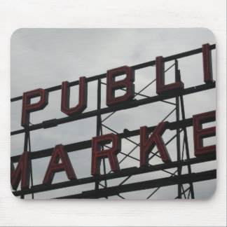 Pike Place Market Sign Mouse Pad
