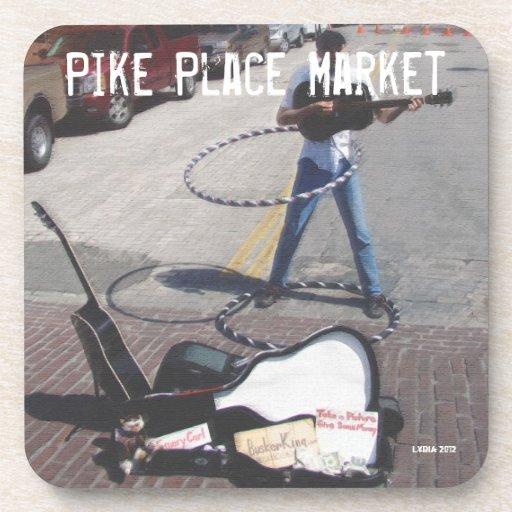 Pike Place Market Street Musician Coaster