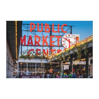 Pike Place Public Market Canvas Prints